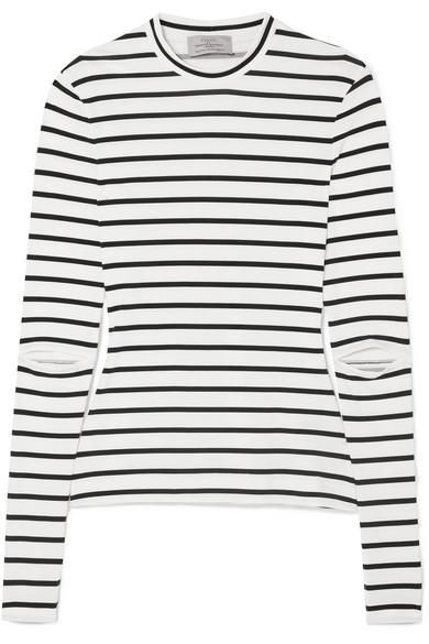 Nikki Cutout Striped Stretch-Jersey Top