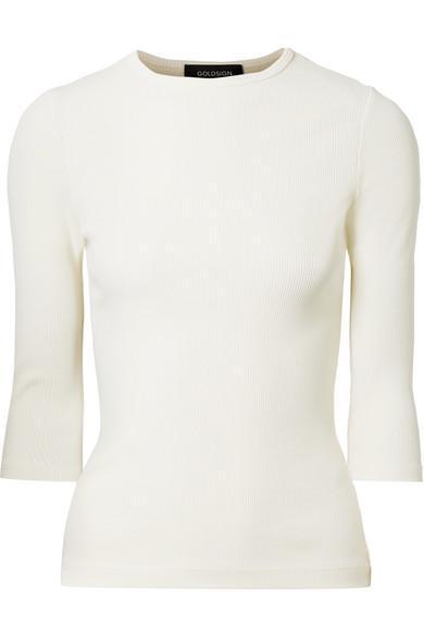 The Rib Stretch Cotton-Blend Top
