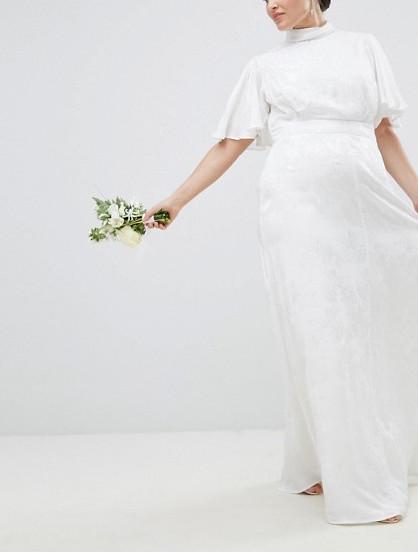 ASOS Curve Wedding Dress in Soft Jacquard