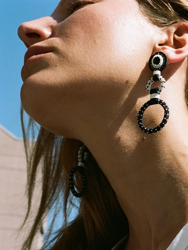 Robin Mollicone Double Hoop Earrings
