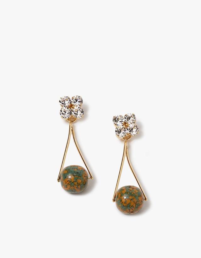 Mika Earrings in Green
