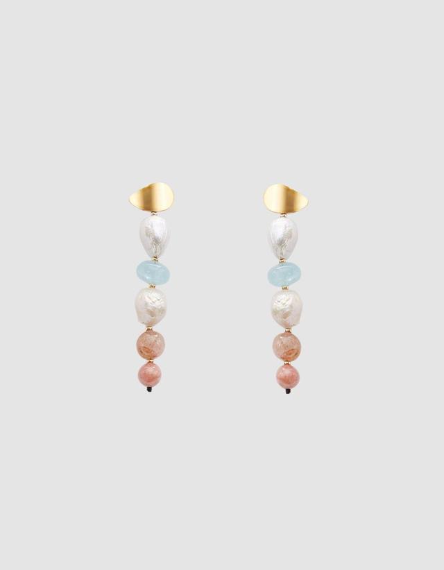 Column Earrings in Pastel