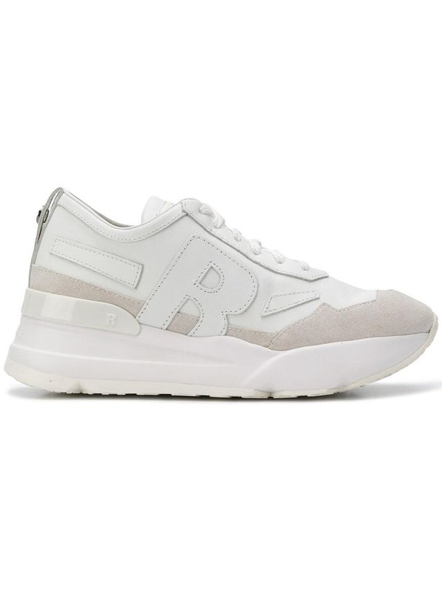 logo platform sneakers