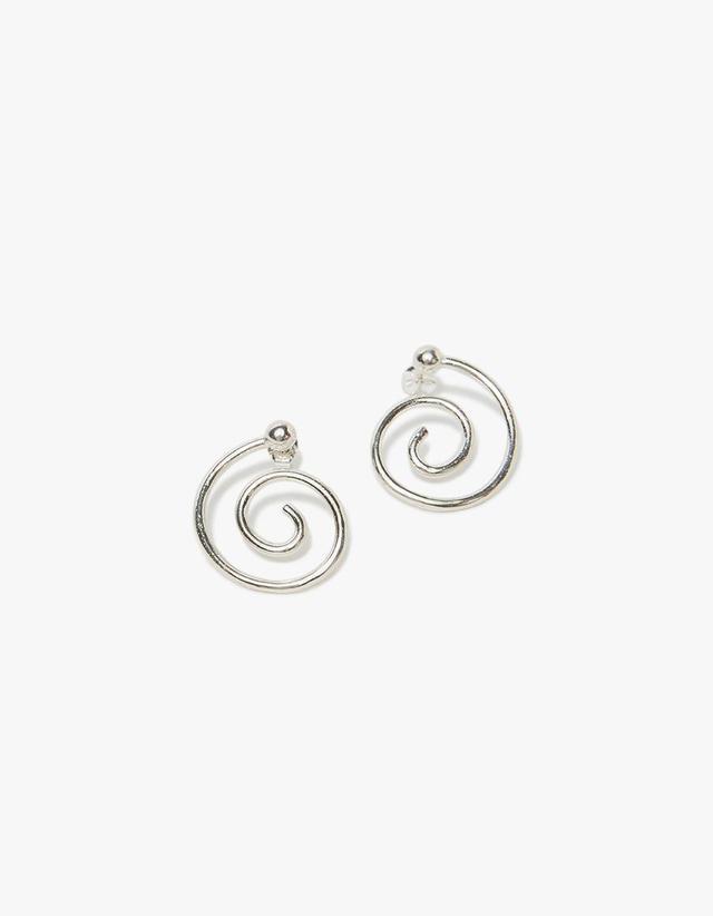 Spiral Earrings in Sterling Silver