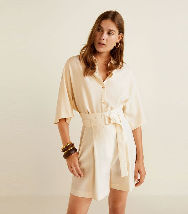 Mango Belt Soft Fabric Shorts