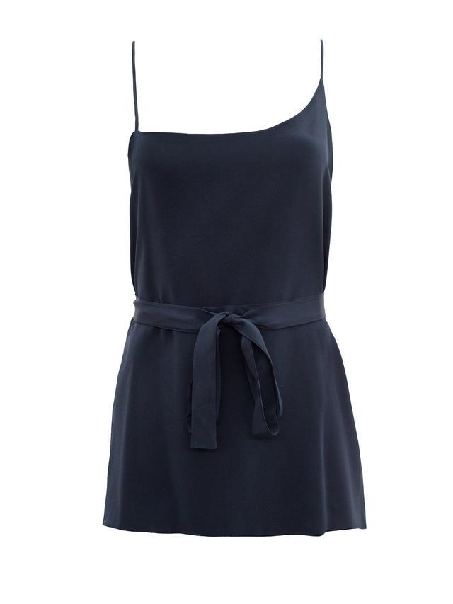 Kacey Devlin Duo Asymmetrical Side Split Cami with Large Waist Tie
