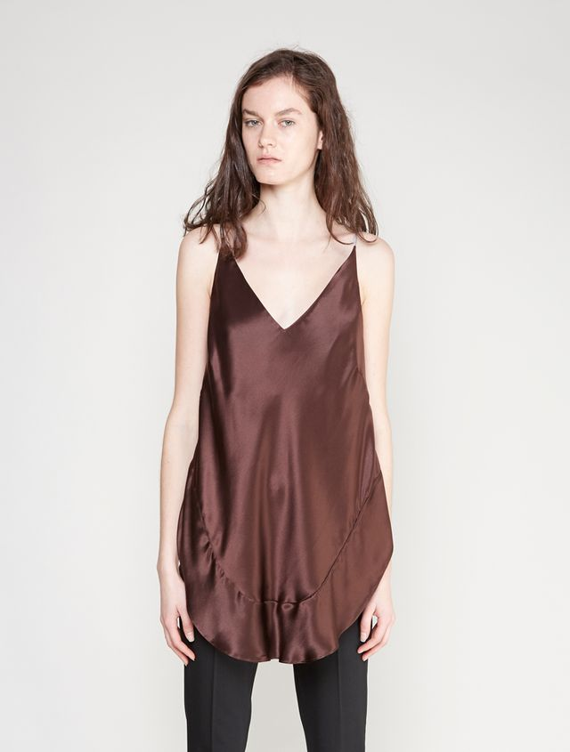 Christopher Esber Chap Cami in Chocolate
