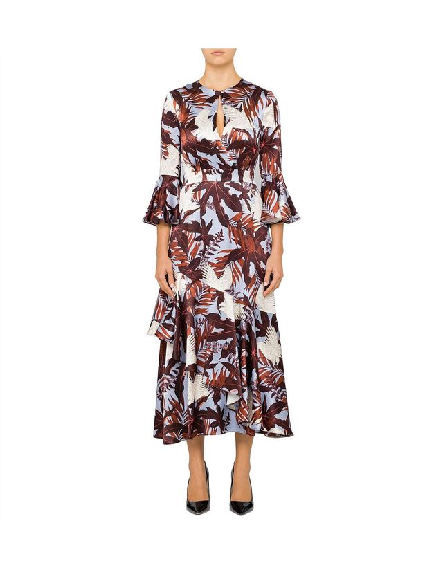 Erdem Florence Dress With Half Sleeve and Keyhole Detail