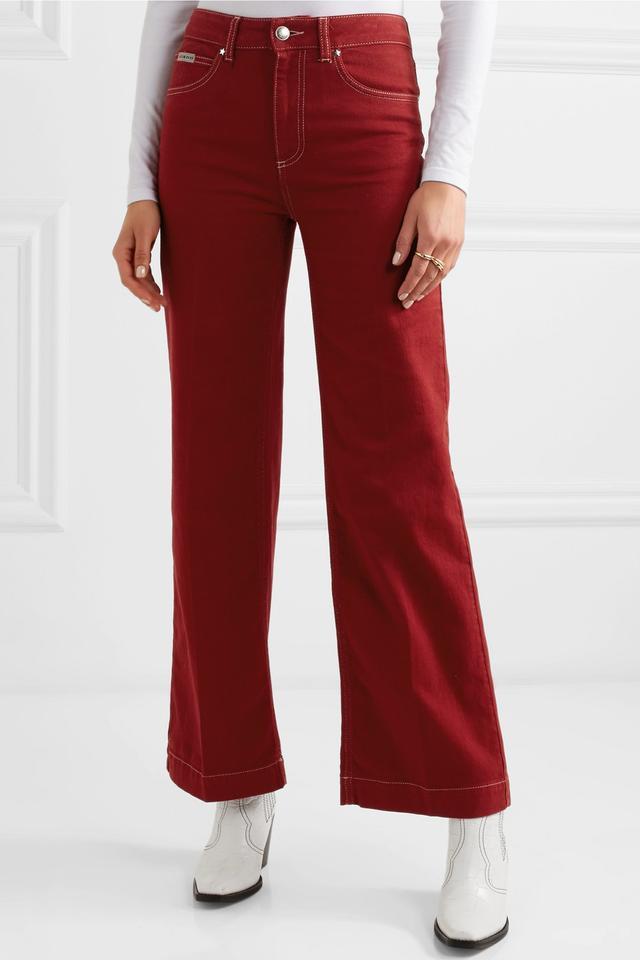 ALEXACHUNG High-Rise Wide-Leg Jeans