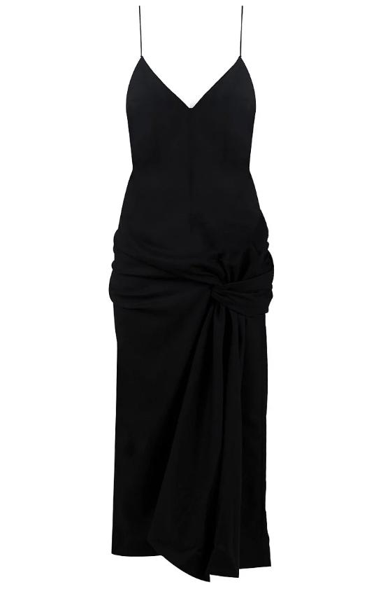 Jacquemus La Samba Robe Dress in Black