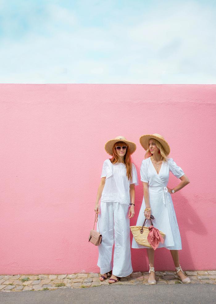Gap white linen wrap dress