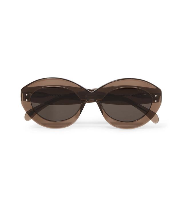 Alaia Round-Frame Acetate Sunglasses