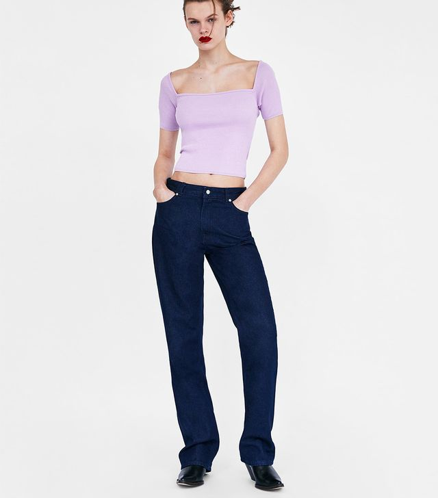 Zara Off-the-Shoulder Crop Top