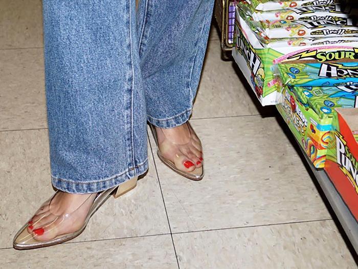 Clear shoe trend