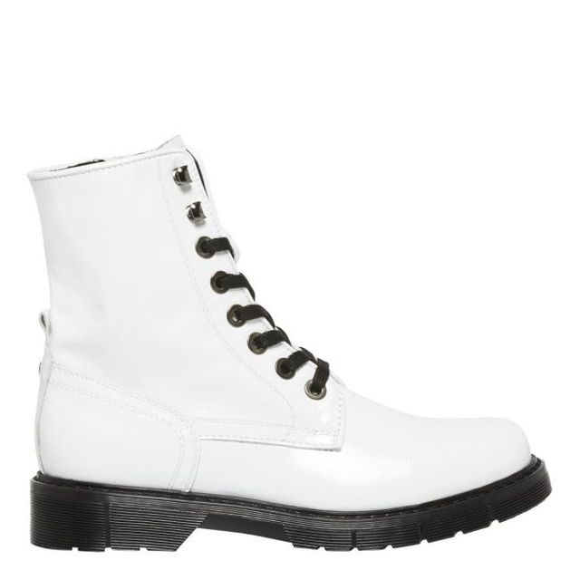 Windsor Smith Francisco White Patent Leather Boot