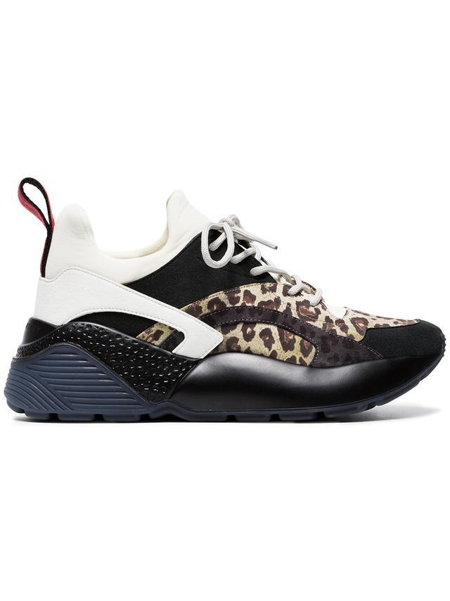 Stella McCartney Multicoloured Eclypse Leopard Print Sneakers