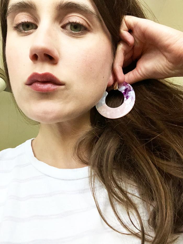 BaubleBar colorful resin earrings