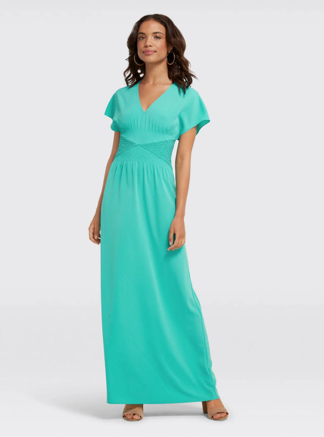 Draper James Flutter Sleeve Maxi Dress