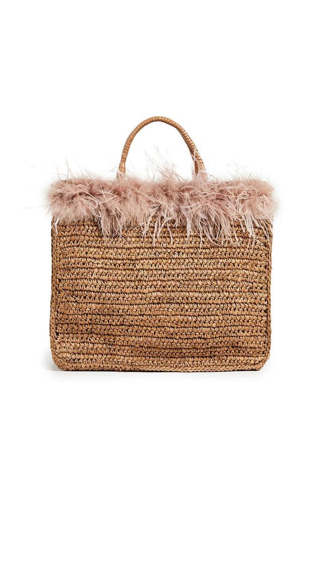 Raffia Travel Tote Bag