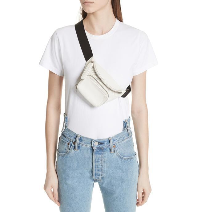 Kara Leather Bum Bag - White