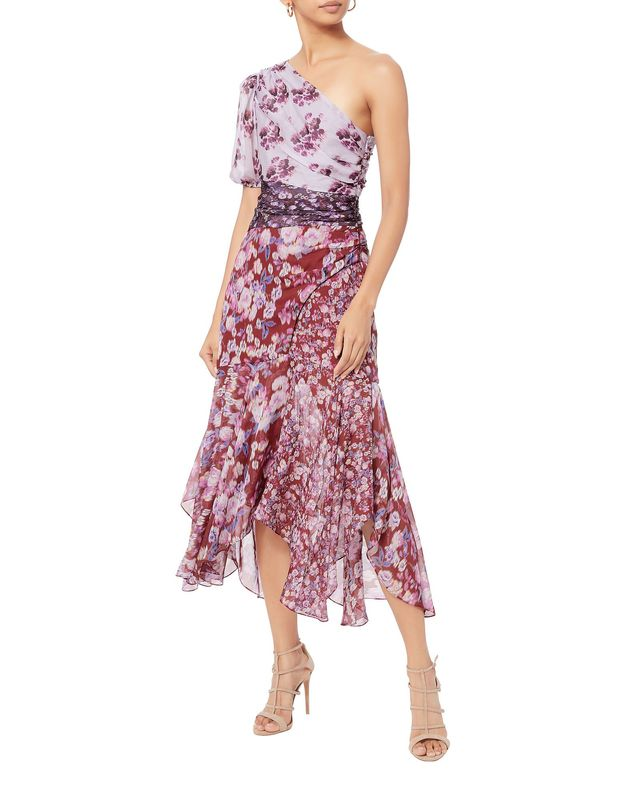 Amur Laura Floral Midi Dress