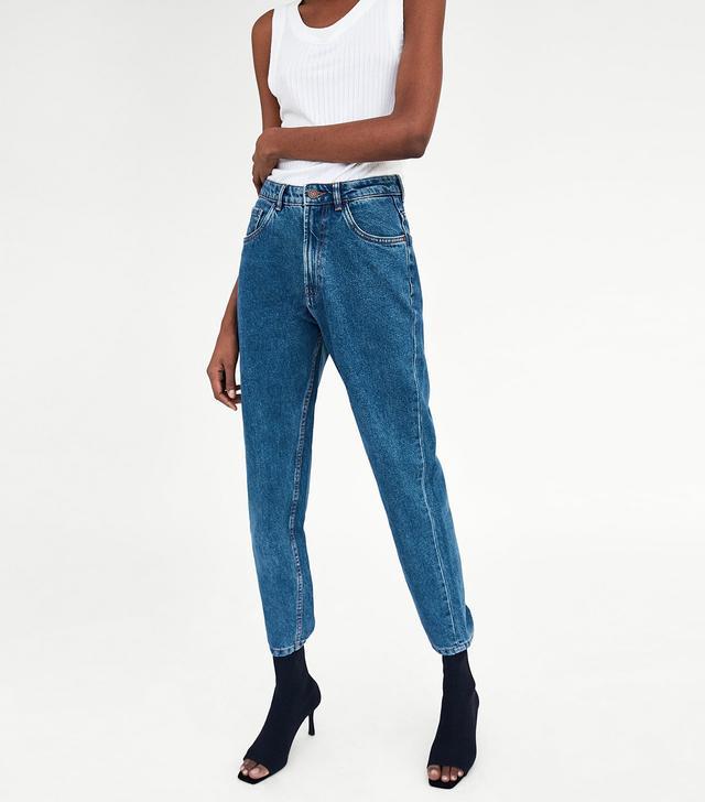 Zara Classic Hi-Rise Mom Fit Jeans