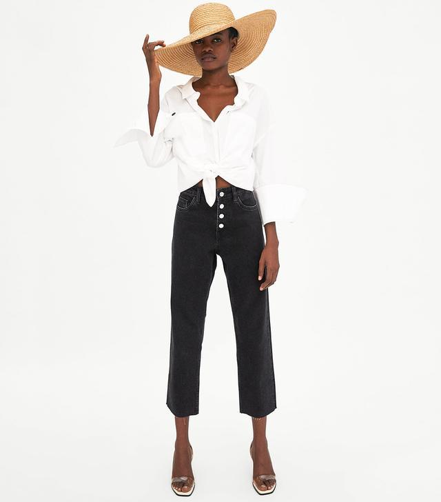 Zara Hi-Rise Straight Leg Jeans