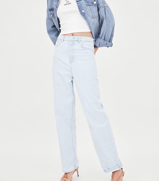 Zara Hi-Rise Loose Fit Jeans