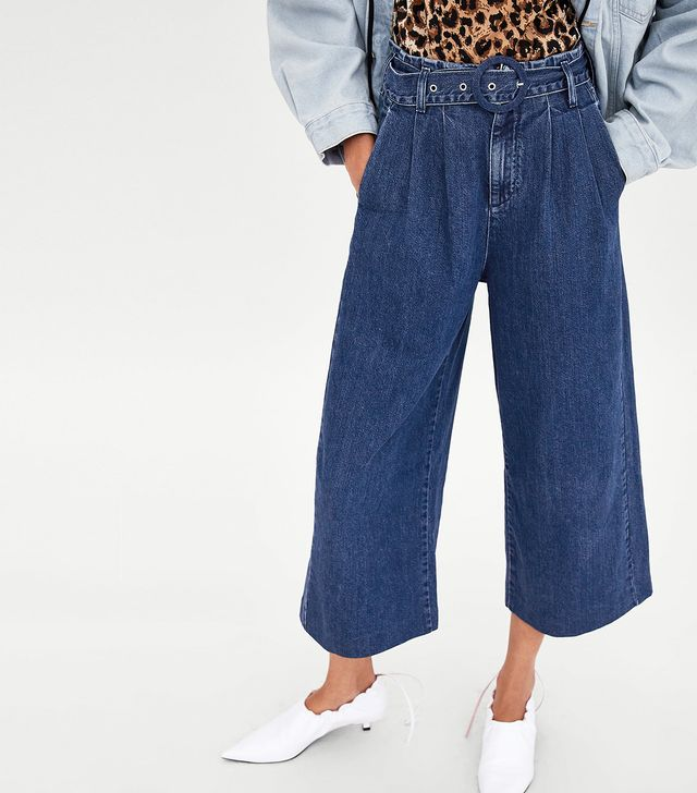 Zara Culotte Jeans With Belt