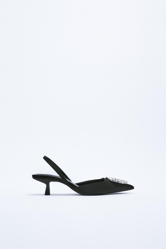 Zara Shimmery Slingback Heels