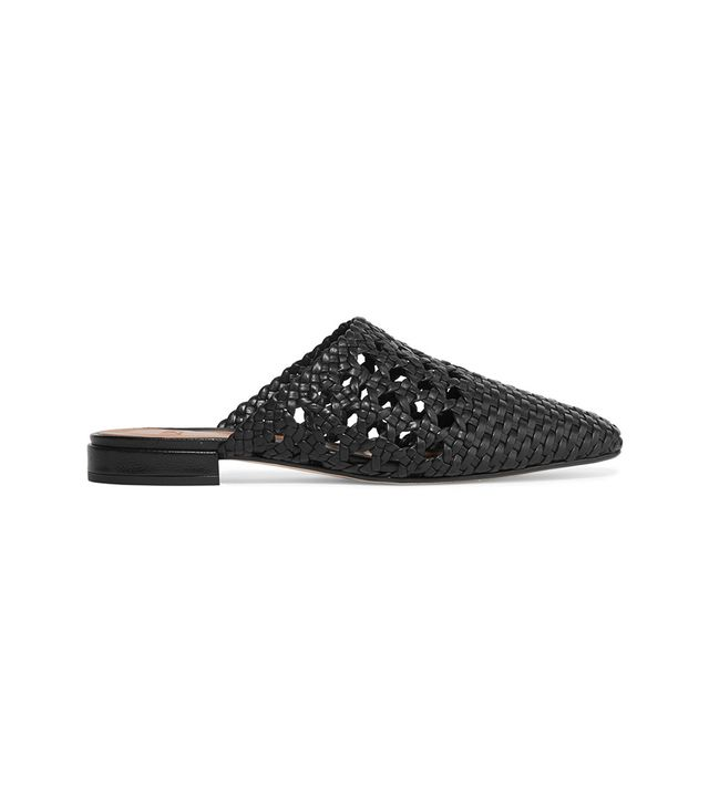 Marti Woven Leather Slippers