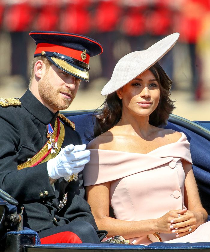 Meghan Markle carolina herrera: Trooping of the Colour