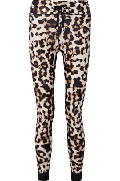 Leopard-print Stretch Leggings