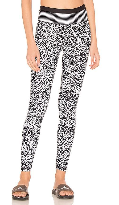 Striped Leopard Legging in Black. - size XS (also in L,M,S)