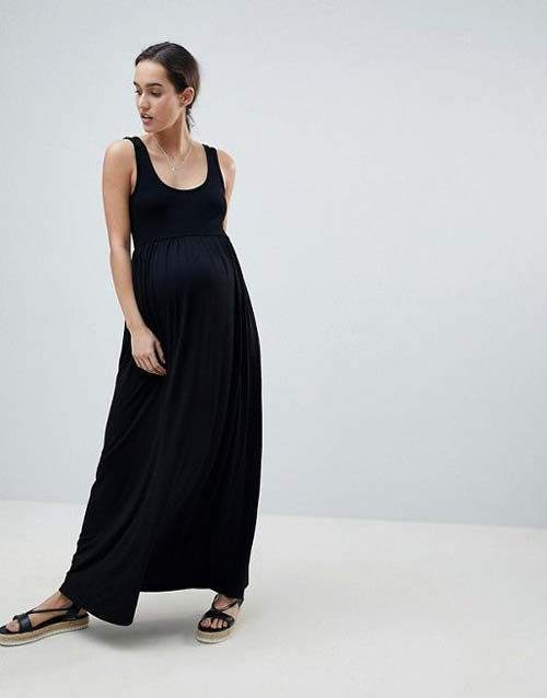 Maternity Maxi Dress Babymoon Capsule Wardrobe