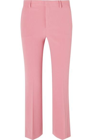 Cropped Cady Flared Pants
