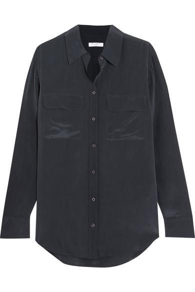 Slim Signature Washed-silk Shirt