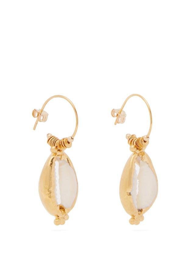 Valos shell earrings