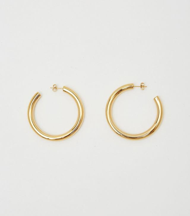 Bagatiba Gold Hollow Hoops