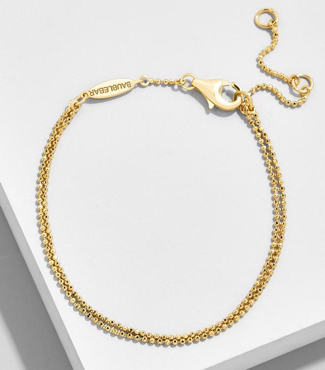 BaubleBar Duo 18K Gold Plated Bracelet
