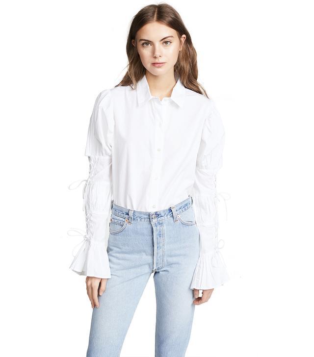 Lace Up Long Sleeve Shirt