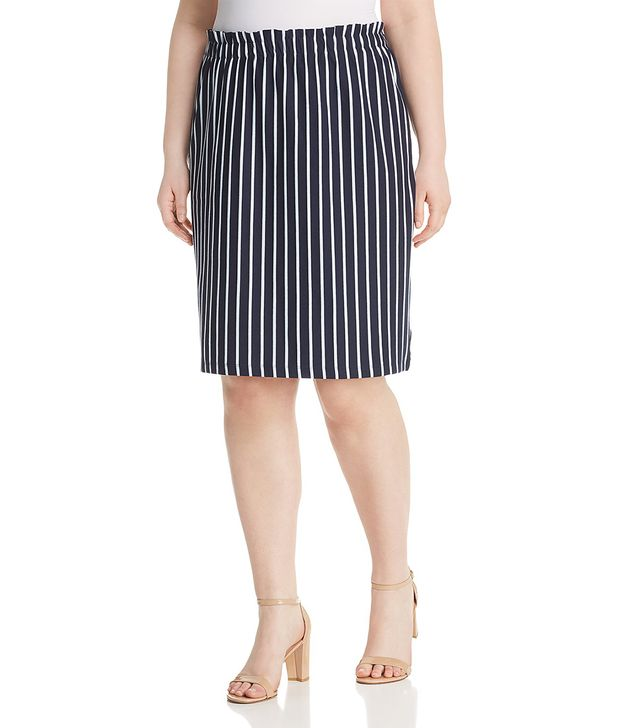 JunaRose Plus Domias Striped Pull-On Pencil Skirt