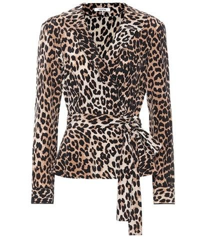 Fayette Leopard-Printed Silk Top