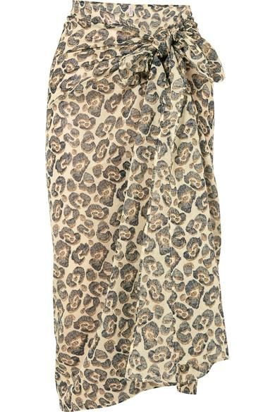 Wild Leopard-Print Cotton-Voile Pareo