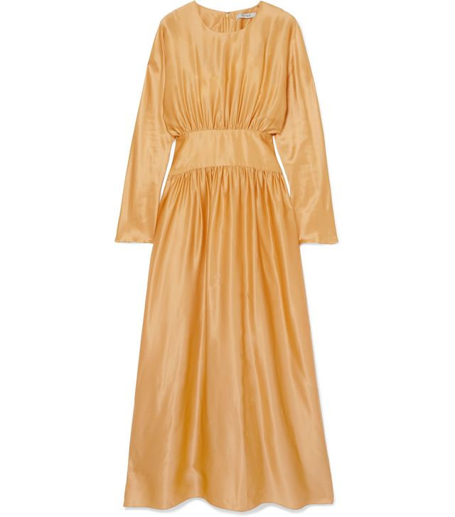 Hermine Silk-Satin Midi Dress