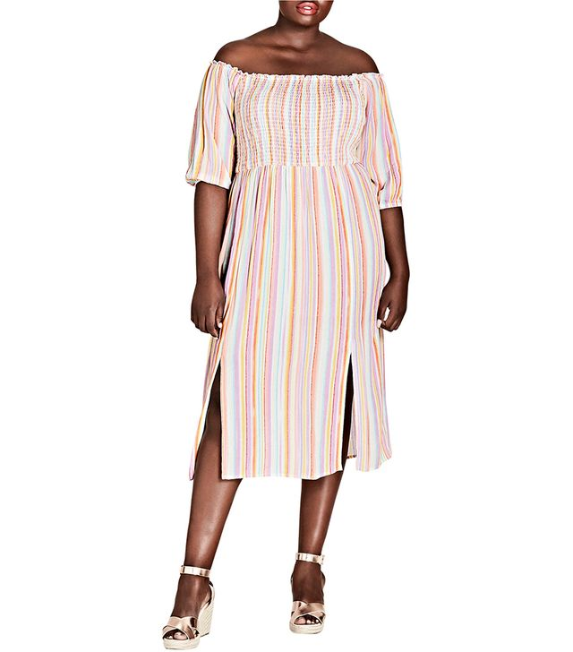 Island Stripe Midi Dress