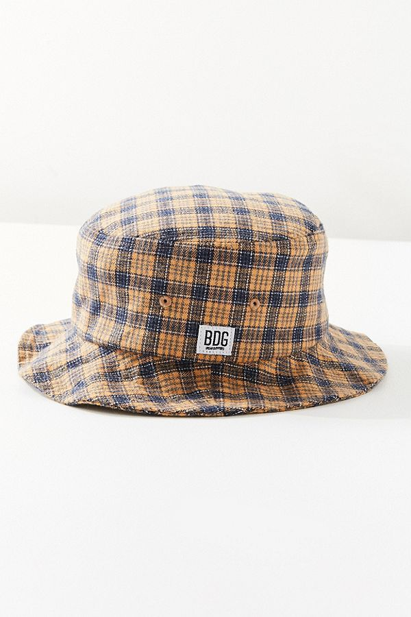 BDG Plaid Bucket Hat