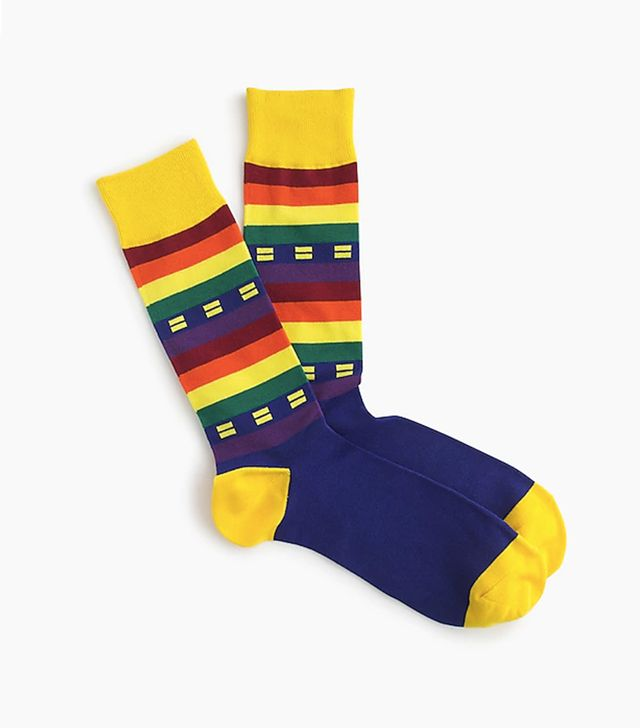 J.Crew Human Rights Campaign Pride Flag Socks
