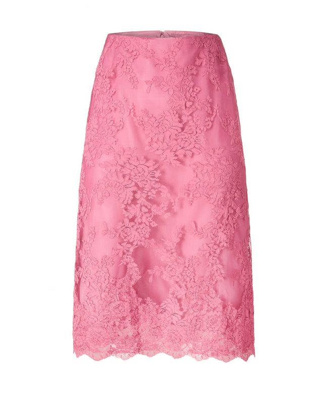Marchesa Corded Lace A-Line Skirt
