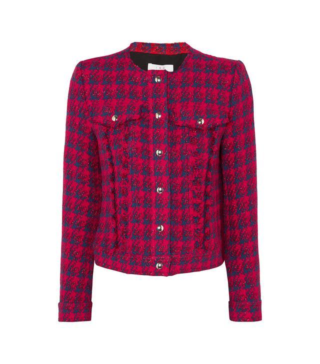 Quilombe Metallic Frayed Tweed Jacket